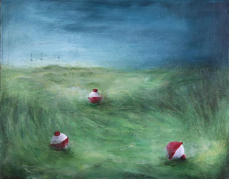 Oil painting, bobber painting, landscape painting, Sara Richardson