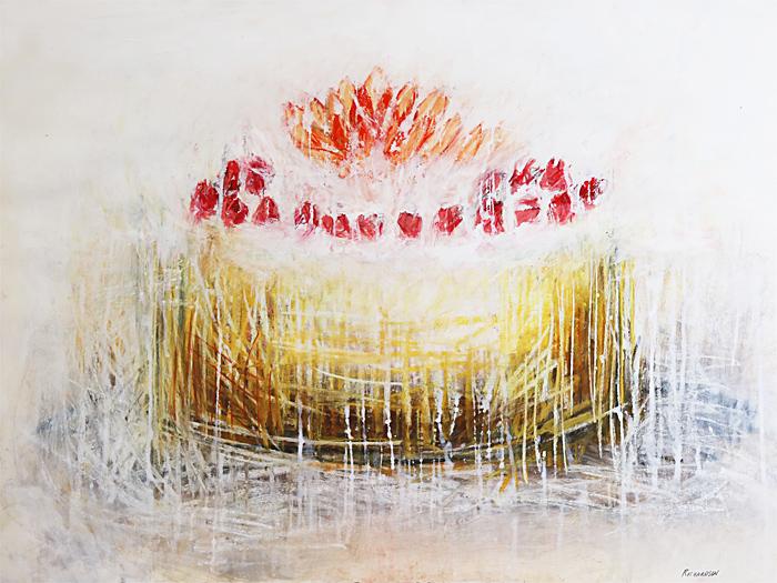 cheesecake art, dessert art, cheesecake painting, cake drawing, sara richardson