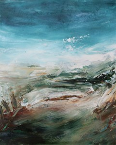 Acrylic landscape paintings on paper by fine artist Sara Richardson