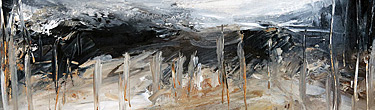 Abstract landscape paintings by fine artist Sara Richardson
