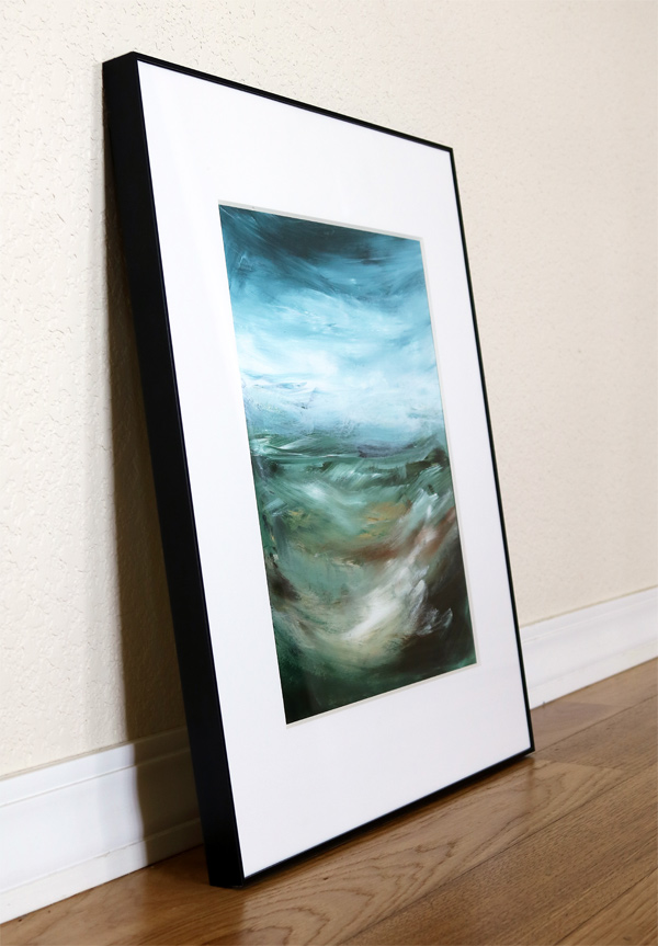 Acrylic painting Basil's Folly No.4 framed by Sara Richardson