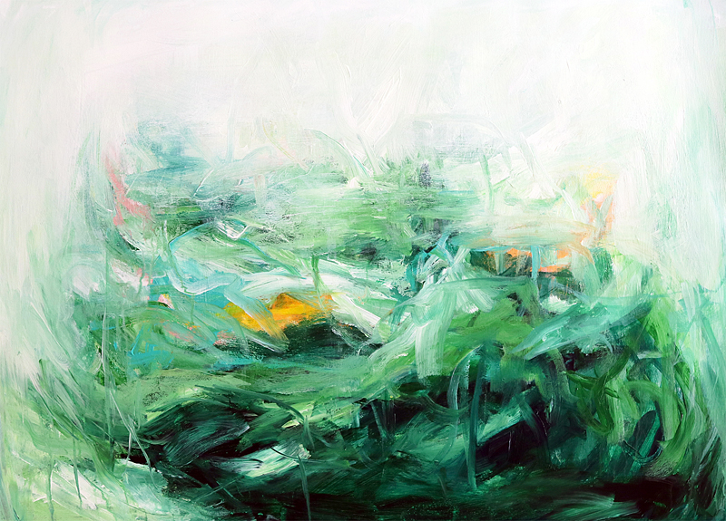 Acrylic Painting Basil's Folly No.7 by contemporary artist Sara Richardson