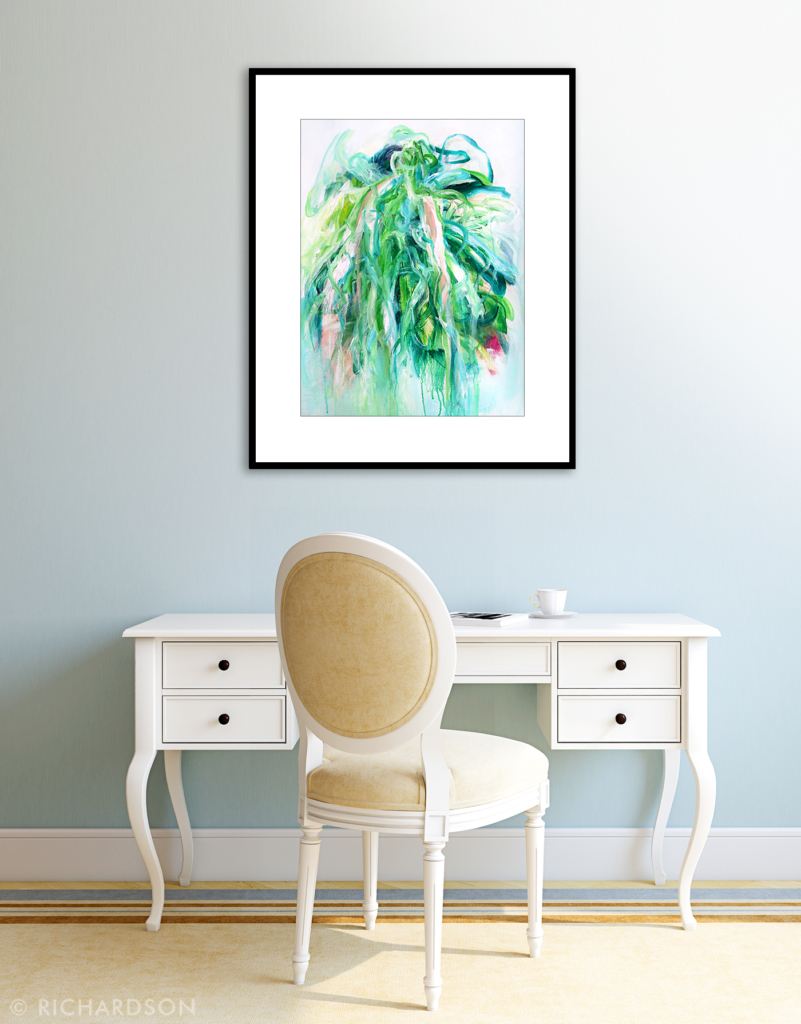 Organic abstract painting by contemporary artist Sara Richardson