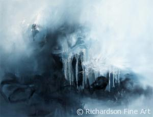 Contemporary artist Sara Richardson imaginary landscape painting art collector