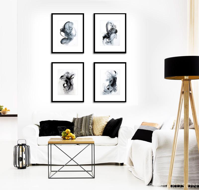 Modern decor ideas using original art by fine artist Sara Richardson