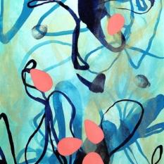 Original abstract nature painting by contemporary artist Sara Richardson