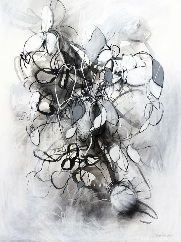 Contemporary charcoal drawing by fine artist Sara Richardson