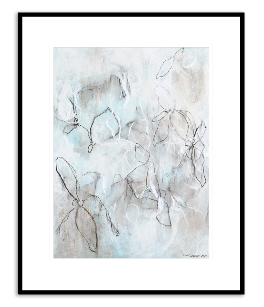 Contemporary abstract drawings by artist Sara C Richardson