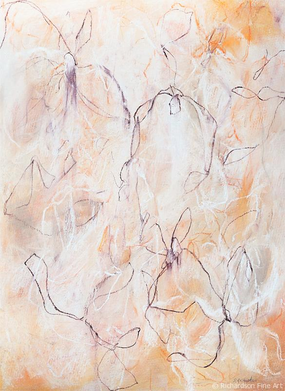 Contemporary abstract nature drawing by fine artist Sara Richardson