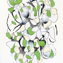 Contemporary artist Sara Richardson abstract nature and foliage inspired art