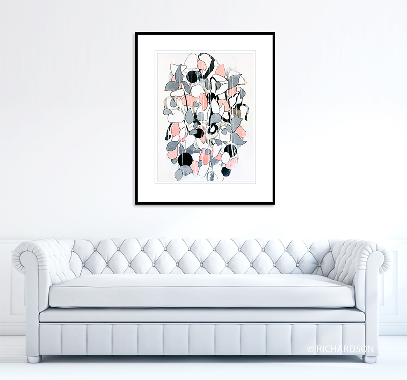 Modern nature floral art by contemporary artist Sara C Richardson