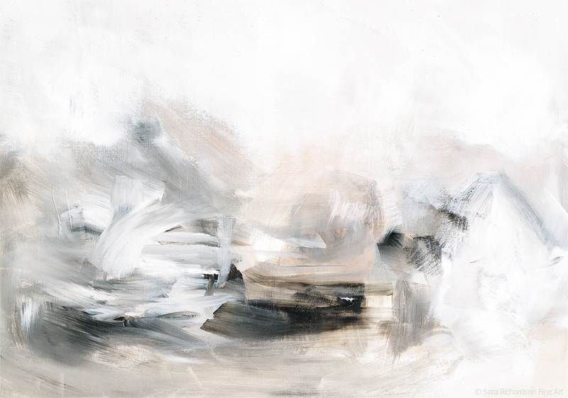 Contemporary abstract landscape by artist Sara Richardson