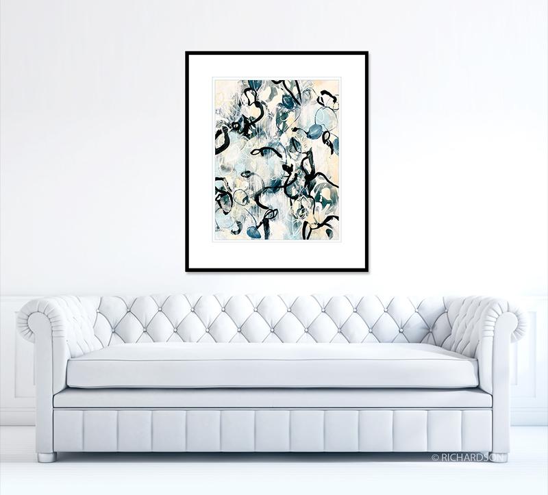 Modern abstraction artwork by contemporary artist Sara Richardson
