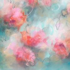 Contemporary floral artwork by fine artist Sara Richardson