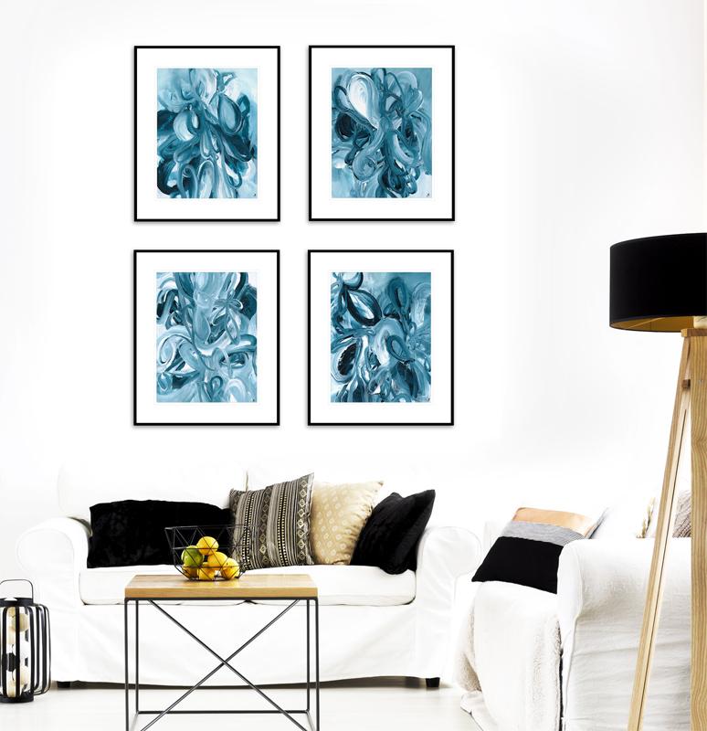 Modern artwork nature inspired by artist Sara Richardson