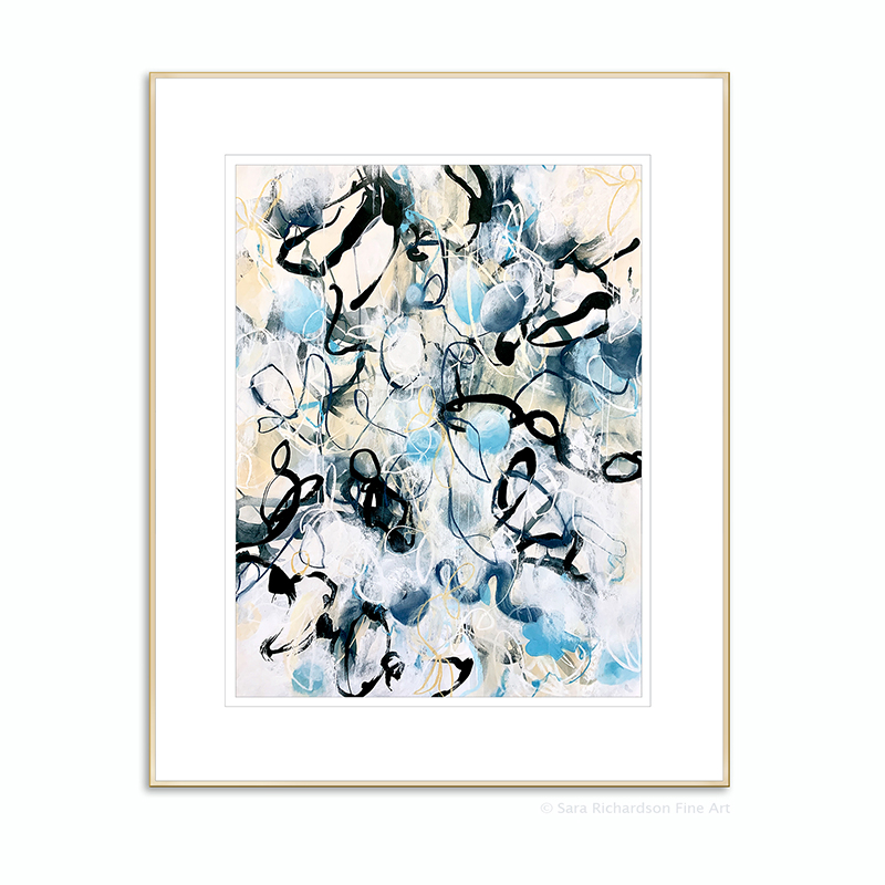 Contemporary american abstract artist Sara Richardson drawings and paintings
