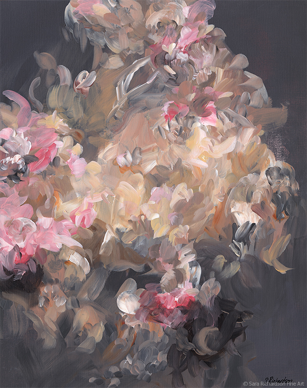 Abstract figurative modern baroque painting by artist Sara Richardson
