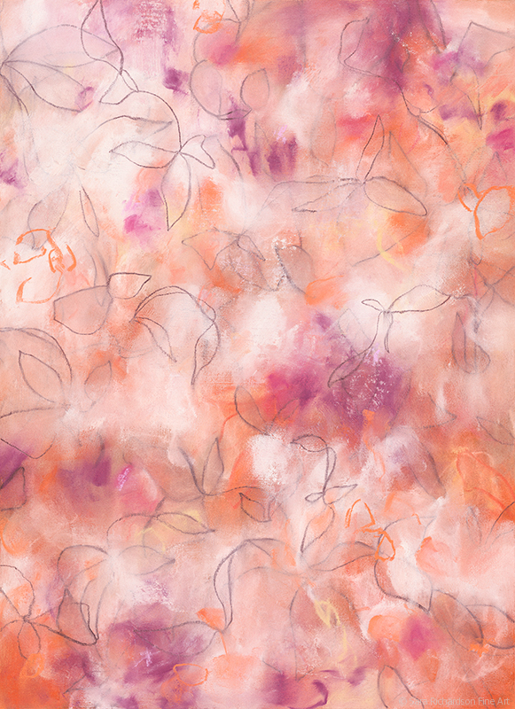 Drawing Tiger Lilies by contemporary artist Sara Richardson