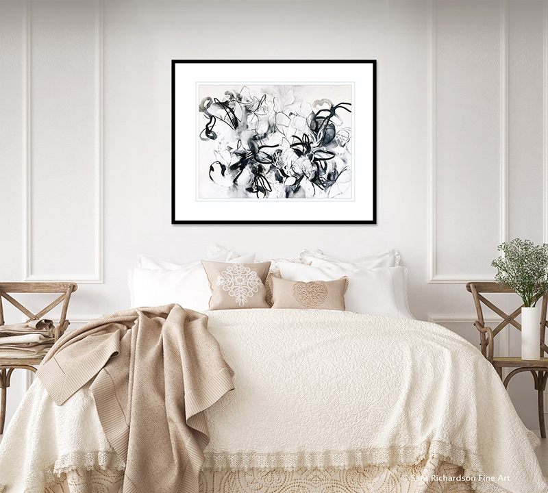 Contemporary charcoal nature drawings by artist Sara Richardson